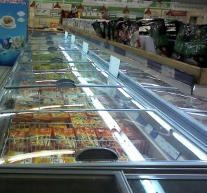 超市節能改造冷凍島柜加蓋