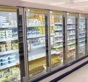 超市展示柜門框系統